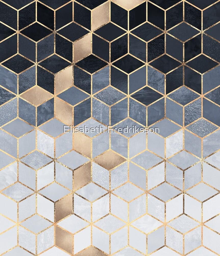 Quot Soft Blue Gradient Cubes Quot By Elisabeth Fredriksson