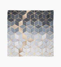 Soft Blue Gradient Cubes Scarf