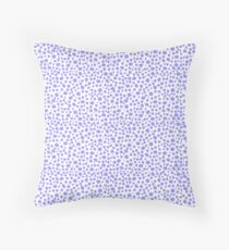 Small Random Dots Salmon blue Throw Pillow