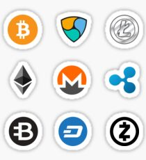 cryptocoins set Sticker