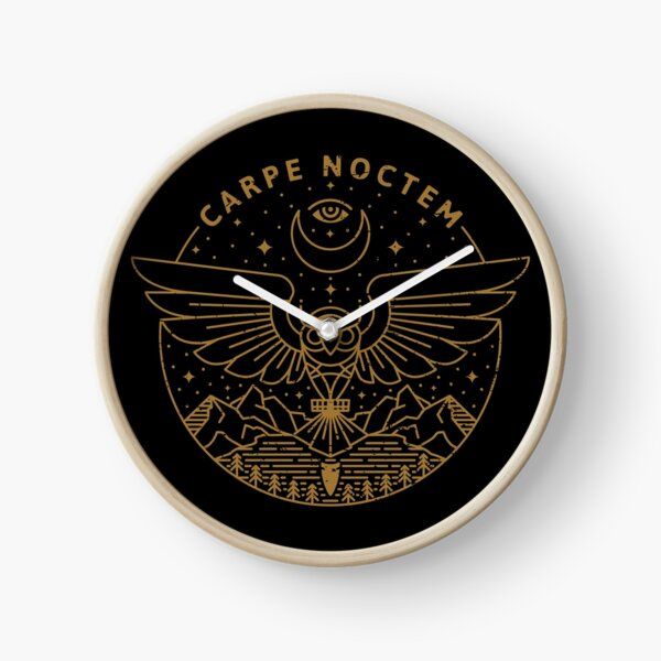 Carpe Noctem Clock