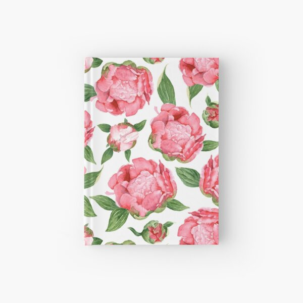 Watercolor Peonies Hardcover Journal