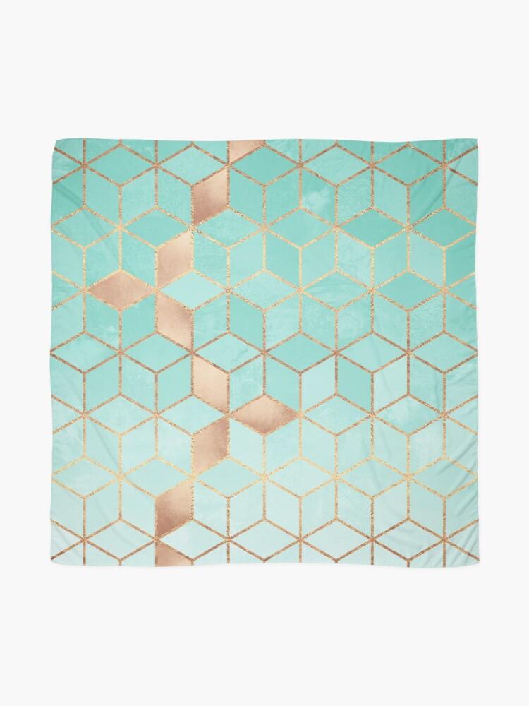 Alternate view of Soft Gradient Aquamarine Scarf