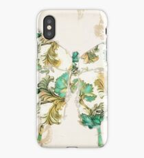 Winged Tapestry Aqua Butterfly iPhone Case/Skin