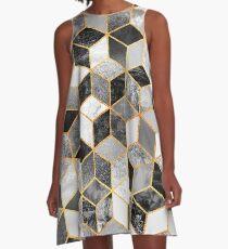 Black & White Cubes A-Line Dress