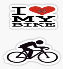 I Love My Bike - T Shirt Sticker