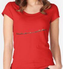 Affen auf der Stange Women's Fitted Scoop T-Shirt