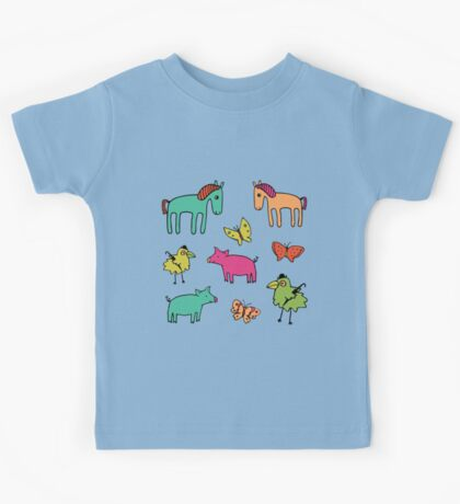 Striped Pigs and Ponies - Peach Melba - cute, fun pattern by Cecca Designs Kids Clothes