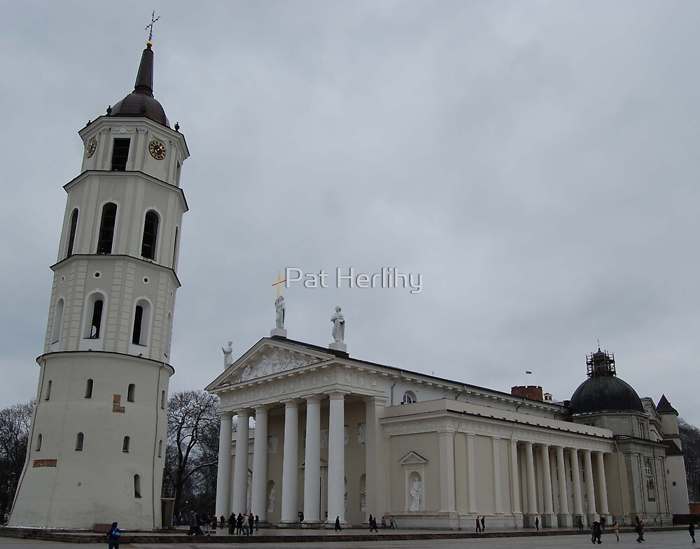 Cathedral in Vilnius by Pat Herlihy