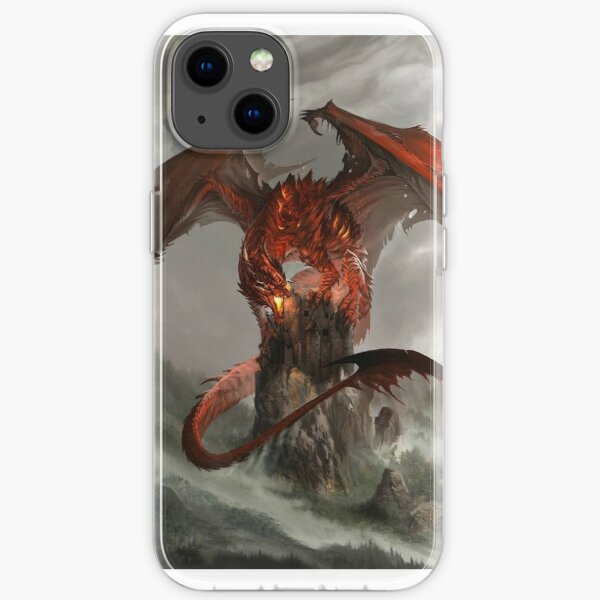 Red Dragon Fantasy iPhone Soft Case