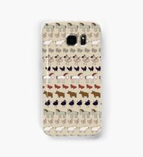 Striped Pigs and Ponies - Clay Samsung Galaxy Case/Skin