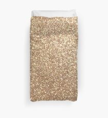 Copper Rose Gold Metallic Glitter Duvet Cover