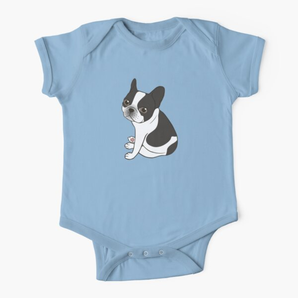BABBY Baby Infant Boys Girls Fun Print Bodysuit Dancing French Bulldog