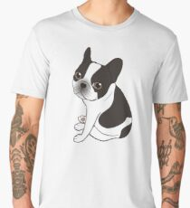 Say hello to the cute double hooded pied French Bulldog Men's Premium T-Shirt