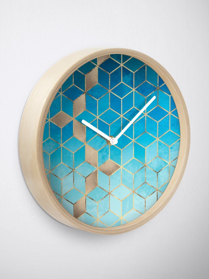 Alternate view of Sea And Sky Cubes Clock