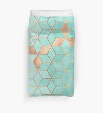Soft Gradient Aquamarin Bettbezug