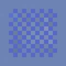 Lovely Blue Squares by Betty Mackey