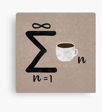 Infinite Coffee Canvas Print