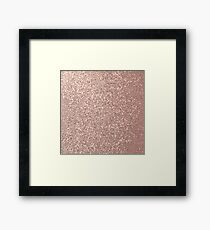 Pink Rose Gold Metallic Glitter Framed Print