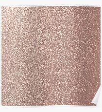 Pink Rose Gold Metallic Glitter Poster