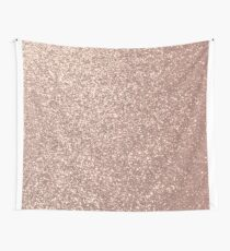 Pink Rose Gold Metallic Glitter Wall Tapestry