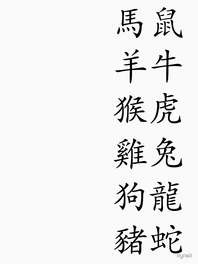 Chinese Zodiac Signs: All 12 by hynek