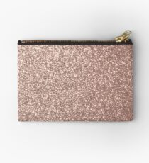 Pink Rose Gold Metallic Glitter Studio Pouch