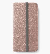 Pink Rose Gold Metallic Glitter iPhone Wallet/Case/Skin