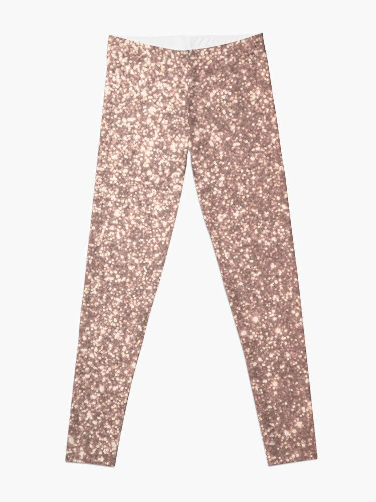 Alternate view of Pink Rose Gold Metallic Glitter Leggings