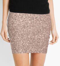 Pink Rose Gold Metallic Glitter Mini Skirt