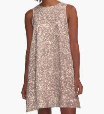 Rosa Rose Gold Metallic Glitter A-Linien Kleid