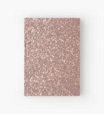 Cuaderno de tapa dura Brillo metálico rosa rosa dorado