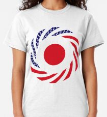 Japanese American Multinational Patriot Flag Series Classic T-Shirt