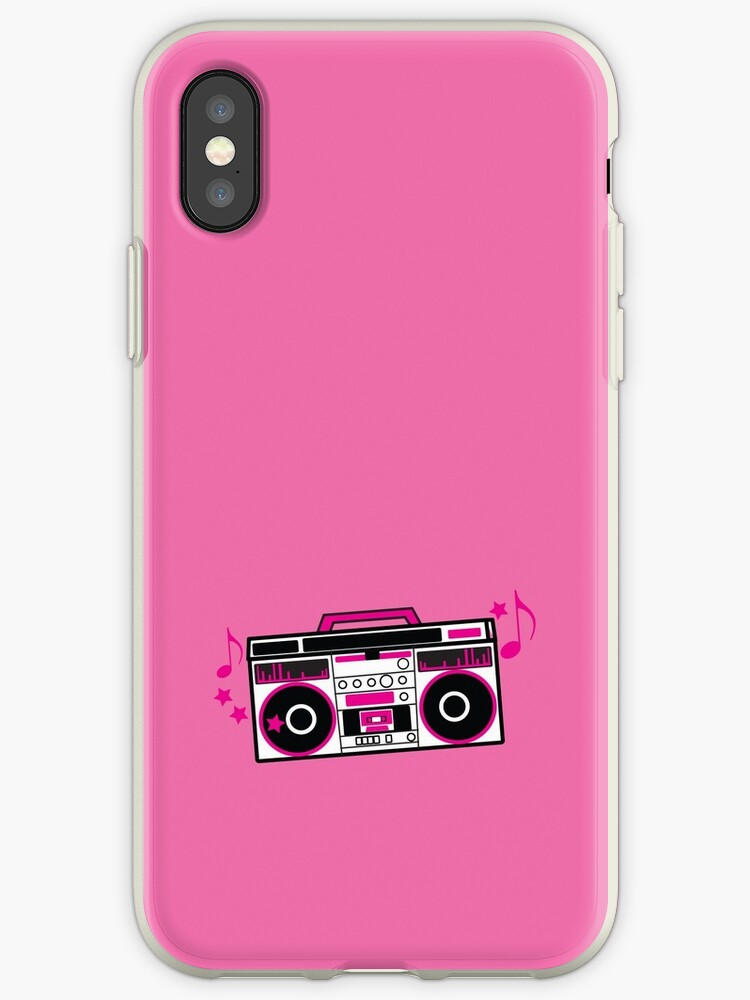RETRO awesome hot pink Cassette Player by jazzydevil