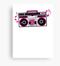 RETRO awesome hot pink Cassette Player Canvas Print