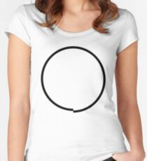 Imperfect Circle Women's Fitted Scoop T-Shirt