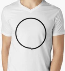 Imperfect Circle Men's V-Neck T-Shirt
