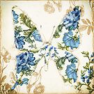 Winged Tapestry Blue Butterfly by mindydidit