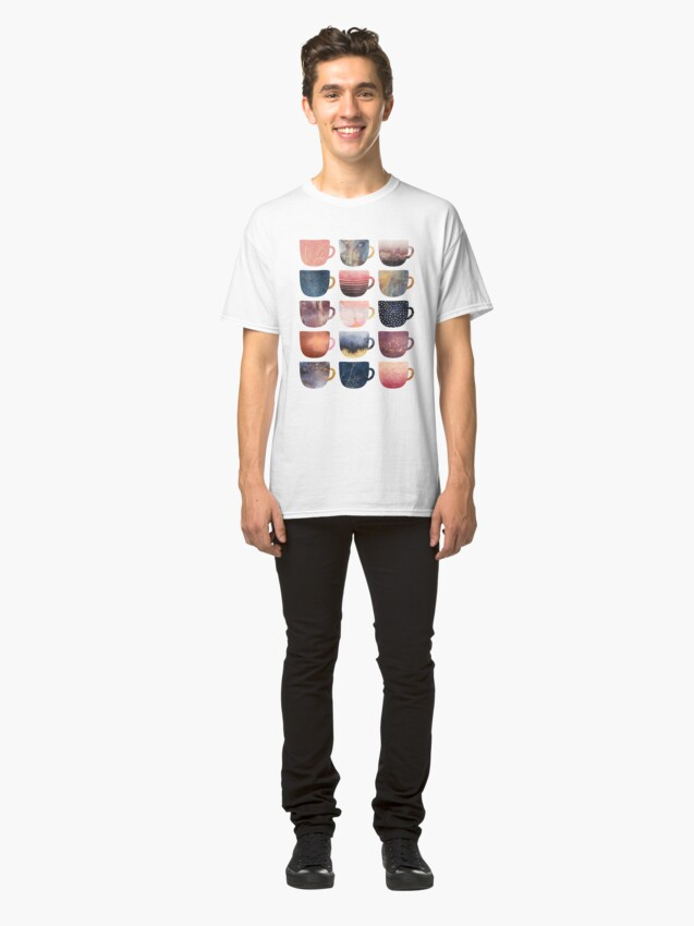 Alternate view of Pretty Coffee Cups 2 Classic T-Shirt