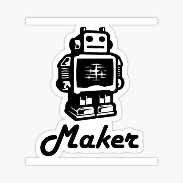 Maker Robot Sticker