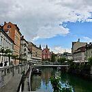 Slovenia - Ljubljana - arch in the river by Ren Provo