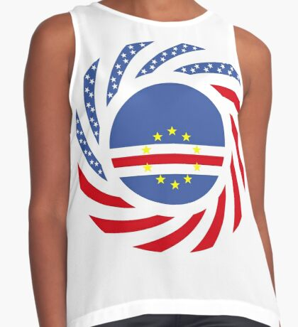 Cape Verdean American Multinational Patriot Flag Series 1.0 Sleeveless Top