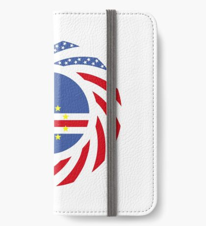 Cape Verdean American Multinational Patriot Flag Series 1.0 iPhone Wallet