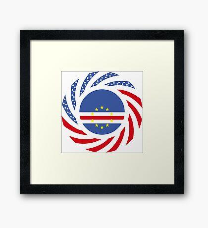 Cape Verdean American Multinational Patriot Flag Series 1.0 Framed Print