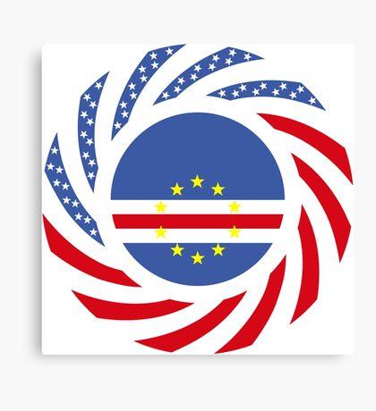 Cape Verdean American Multinational Patriot Flag Series 1.0 Canvas Print
