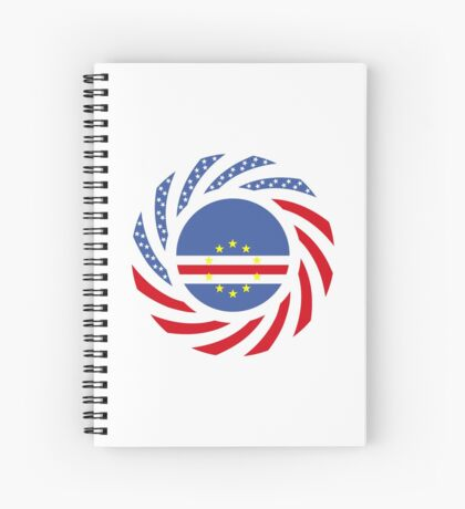 Cape Verdean American Multinational Patriot Flag Series 1.0 Spiral Notebook