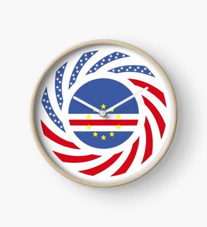 Cape Verdean American Multinational Patriot Flag Series 1.0 Clock
