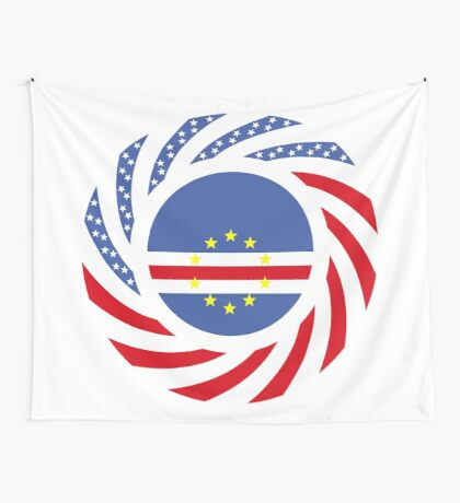 Cape Verdean American Multinational Patriot Flag Series 1.0 Wall Tapestry