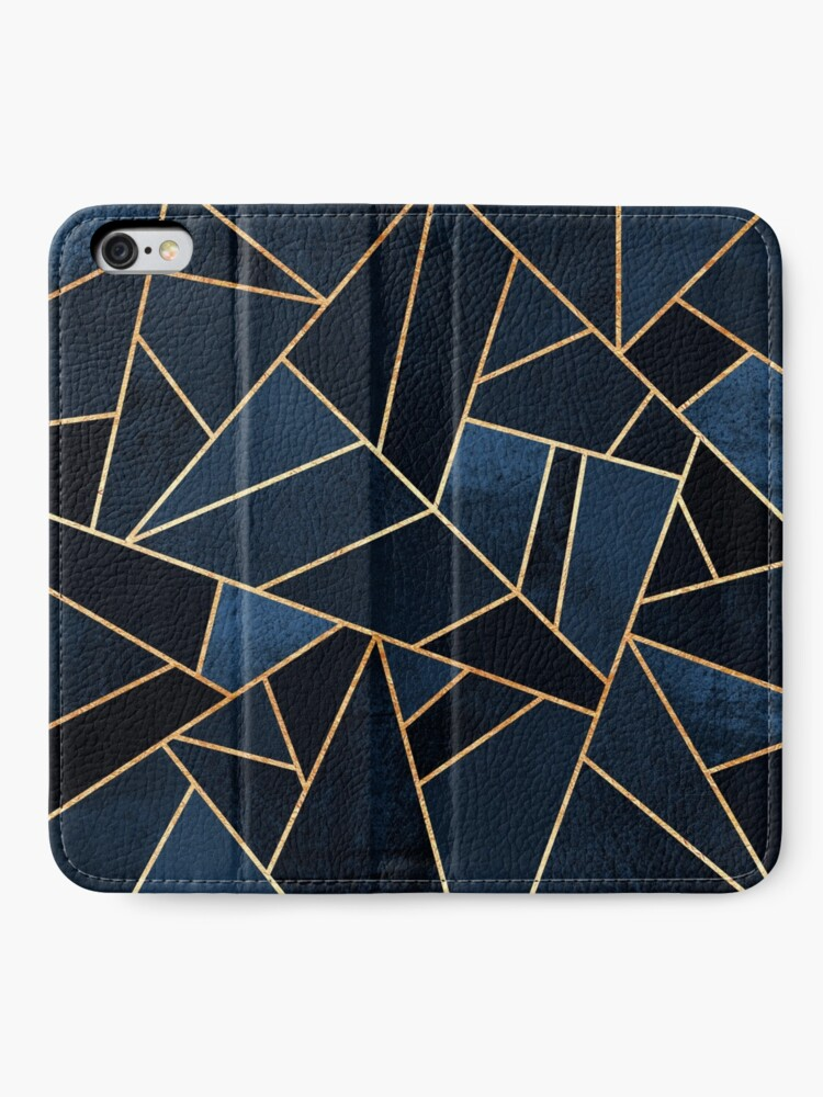 Alternate view of Navy Stone iPhone Wallet