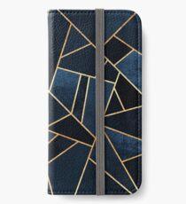 Navy Stein iPhone Flip-Case/Hülle/Klebefolie